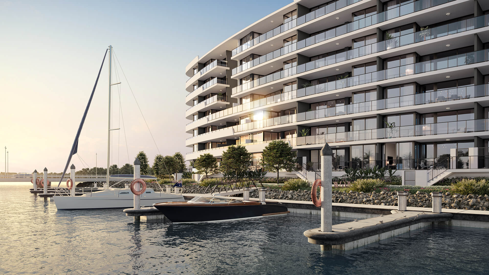 Brand new.  Spectacular waterfront living. Now leasing. Offering 2 weeks free <span>(*selected apartments only)</span>
